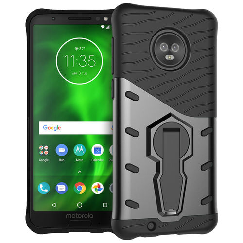 Slim Shield Tough Shockproof Case for Motorola Moto G6 - Grey